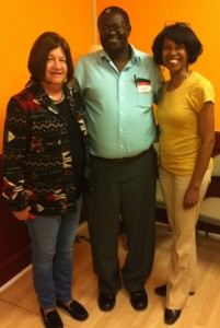 (l-r) Roberta Malavenda of CDF, Emmanuel Solomon of USASSCA, Deborah Strahorn of KUUMBA