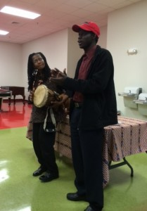 Gwendolyn Napier & Abrahim perform at Storytelling 101 Workshop