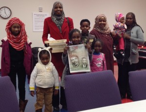 Sudanese participants at the family story sharing event.